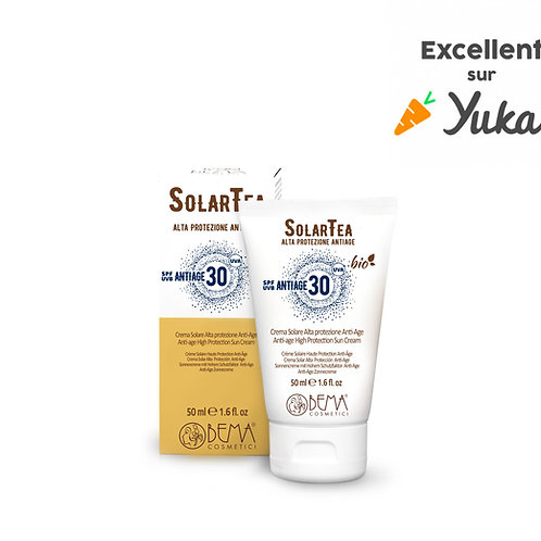 Crème Solaire BIO Visage Haute Protection Anti Age 30 SPF