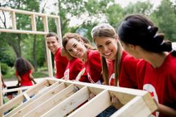 ボランティア、建設