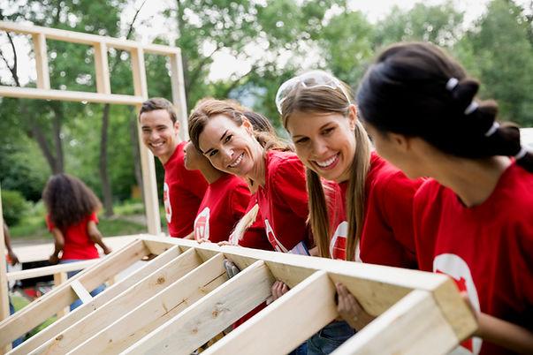 Los voluntarios-Construcción