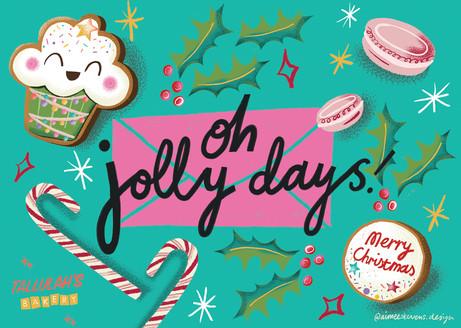 Oh Jolly Days! Christmas card design