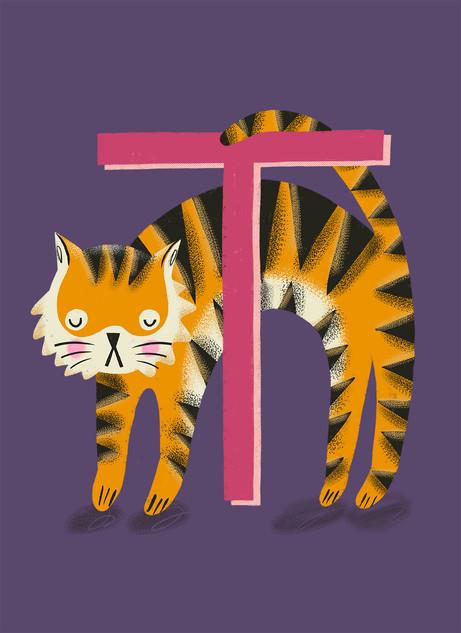 Greetings card design: Monogram T