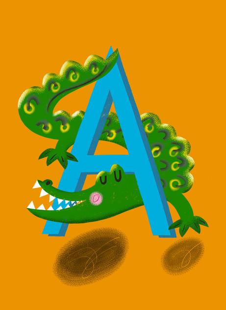 Greetings card design: Monogram A