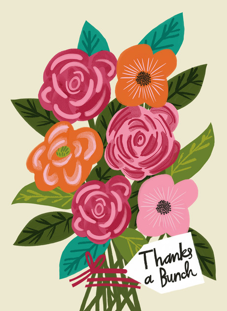 Greeting card design: Thanks a bunch