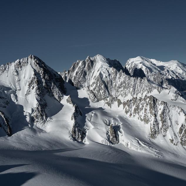 Three Giants seen from Aiguille du Tour (3540m)