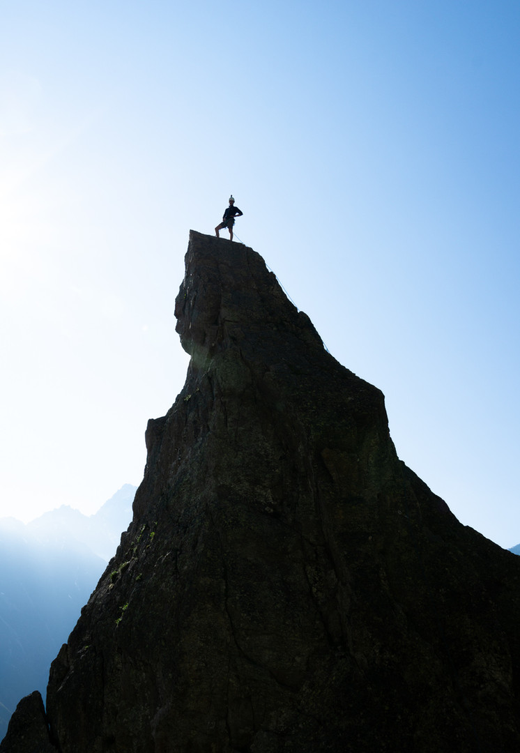 Victor standing on top of Aiguillette d'Argentière
