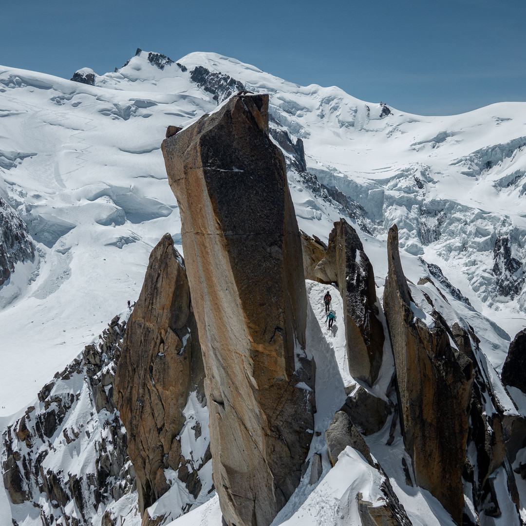 Classic views from Cosmiques Ridge