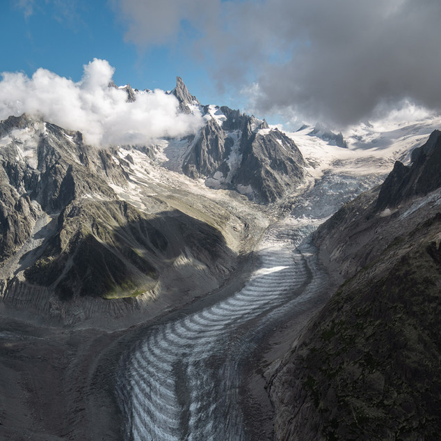 The Mer de Glace seen from my paraglider