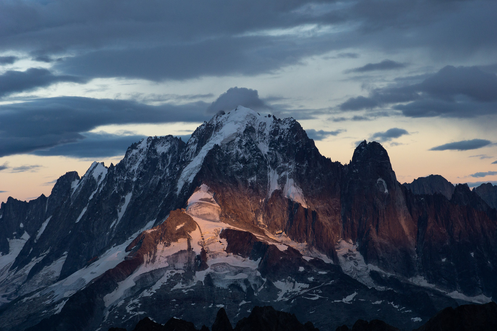 The mighty Aiguille Verte from Mont Buet