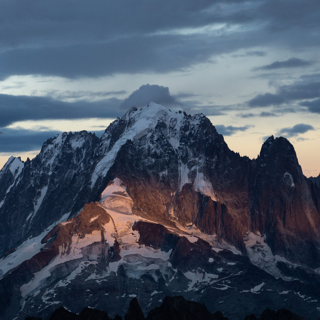 Aiguille Verte and Drus seen from Mont Buet