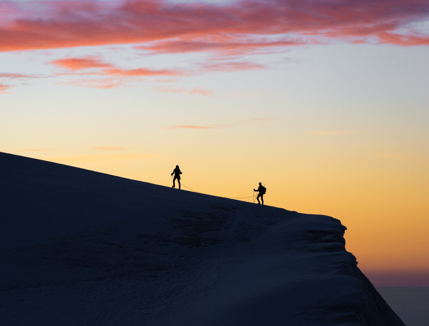 Sunrise from the magnificent Lyskamm ridge