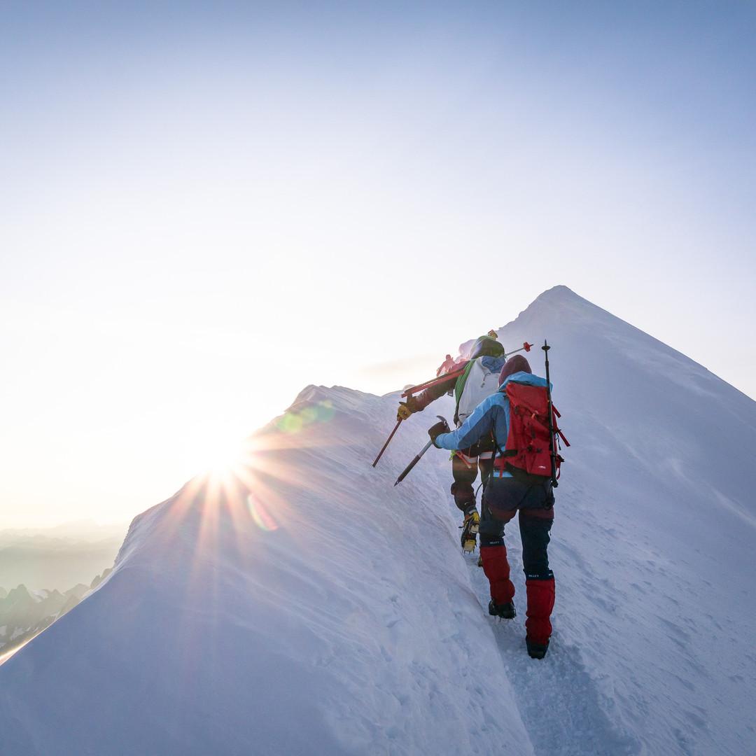Mont Blanc final ridge