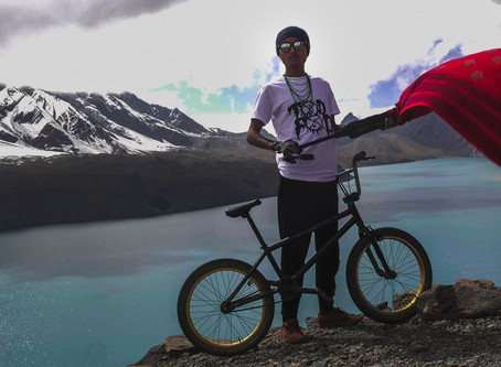 City boy cycles to the highest altitude lake, creates world record
