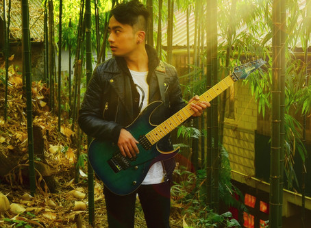 Local boy rocks as solo guitarist