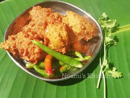 Fish caviar pakoras recipe