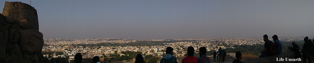 A view of Hyderabad city from Golconda Fort
