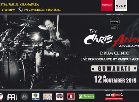 Chris Adler to perform in Guwahati