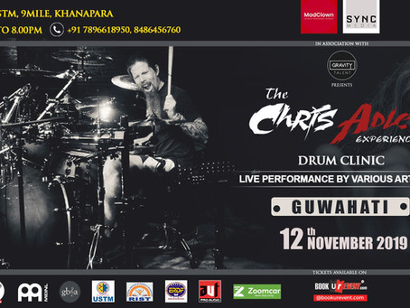 Chris Adler to perform in Guwahati