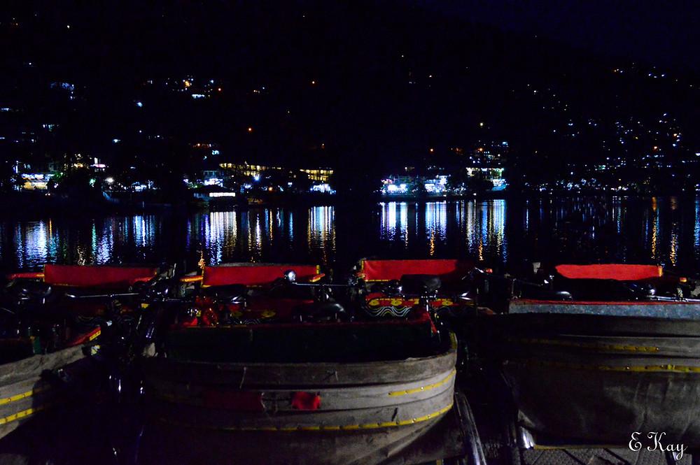 Night veiw of Nainital Lake