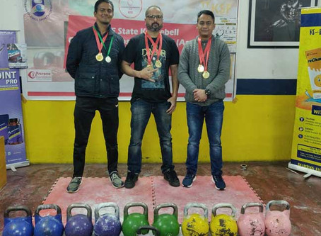Shillong lads win medals in Kettlebell Competition