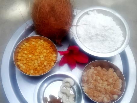 Coconut dal modak