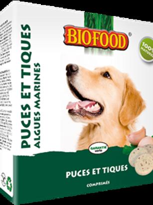 BIOFOOD Friandises puces/tiques algues pour chien