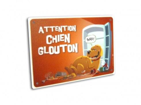 Panneau Attention Chien Glouton