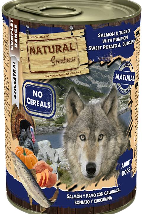 Natural Greatness Saumon Dinde Citrouille 400 gr