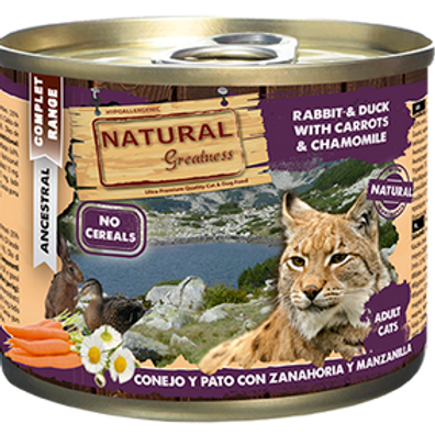 Natural Greatness Lapin, canard, carotte 200 gr