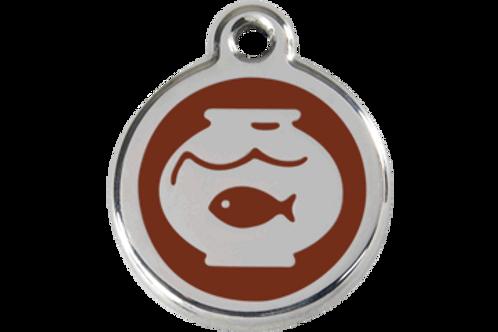 """Médaille """"Fish Bowl"""" Red Dingo / 11 couleurs possibles"""