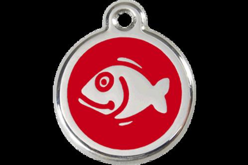 """Médaille """"Fish"""" Red Dingo / 11 couleurs possibles"""