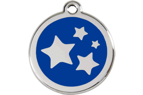 "Médaille ""stars"" Red Dingo / 11 couleurs possibles"