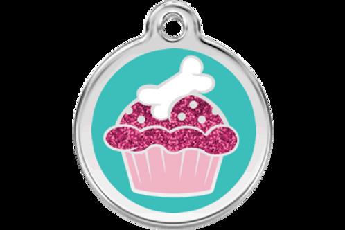 """Médaille pailletée """"cupcake"""" Red Dingo"""