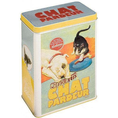 """Boîte à croquettes ou rangement """"chat pardeur"""""""