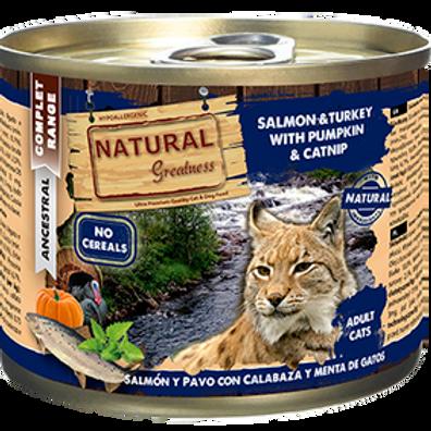 Natural Greatness Saumon, Dinde, Citrouille 200 gr