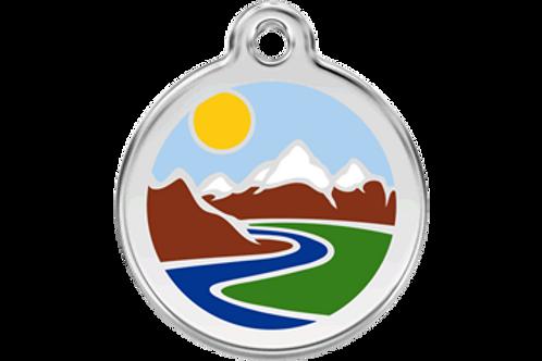"Médaille ""mountains"" Red Dingo"