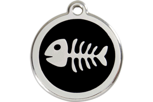 Médaille Fish Bone pour chat Red Dingo / 11 couleurs possibles