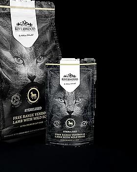 Croquettes pour chat sans céréales appétentes Riverwood