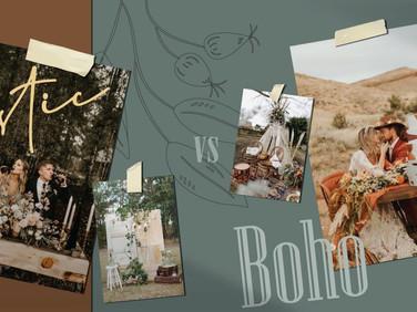 Rustic vs Boho แตกต่างเคียงข้างกัน