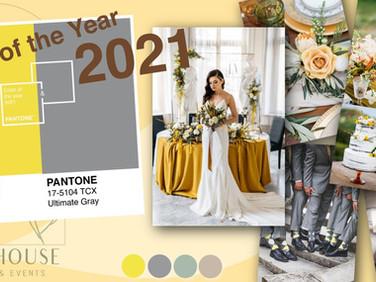 ไอเดียจัดงานแต่งตามสี PANTONE แห่งปี 2021 จะเป็นสีอะไรไปดูกัน
