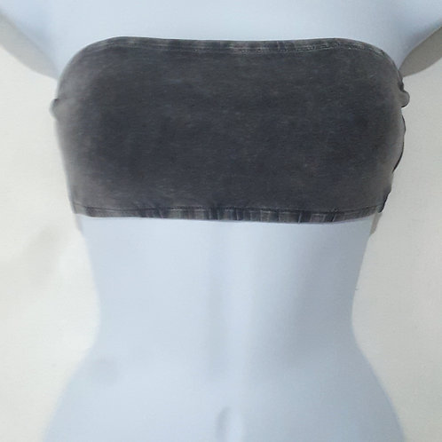 Womens M Gray Bandeau Top