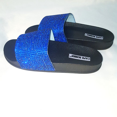 Womens 6 electric sparkle slides