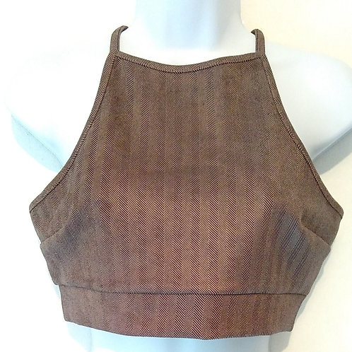 Womens Chocolate Cosmo Crop Top