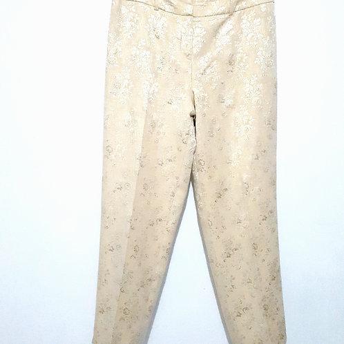 Womens 9 Gold Flower Dress Pants