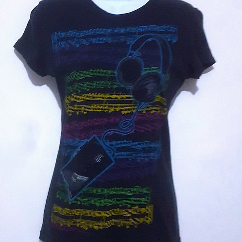 Womens L Through the Speakers T shirt