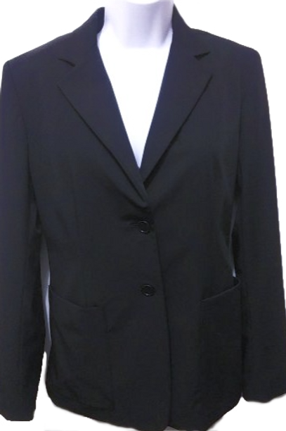 Womens 6 Black Blazer Suit Jacket