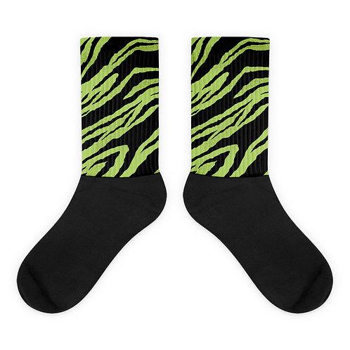 Neon Tiger Stripes Socks
