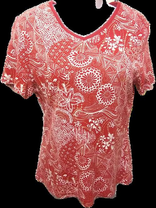 Womens S Zinnia Floral Shirt