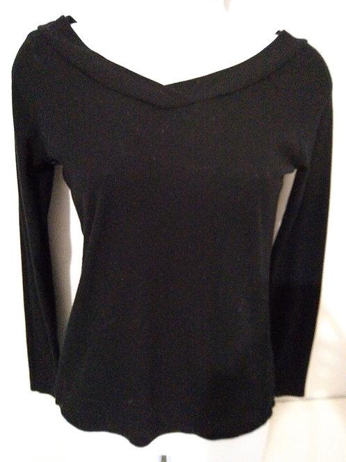 Womens black knit sweater