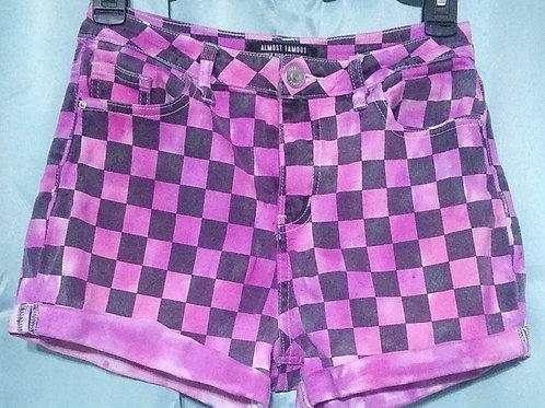 Womens 5 Tie Dye Checkered Shorts