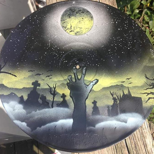 Night at the Graveyard painted record